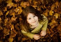 Cute Girl on Leaves - Cute Girl on Leaves