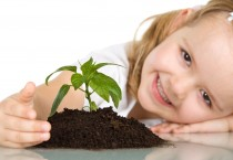 Little Girl With Plant - Little Girl With Plant