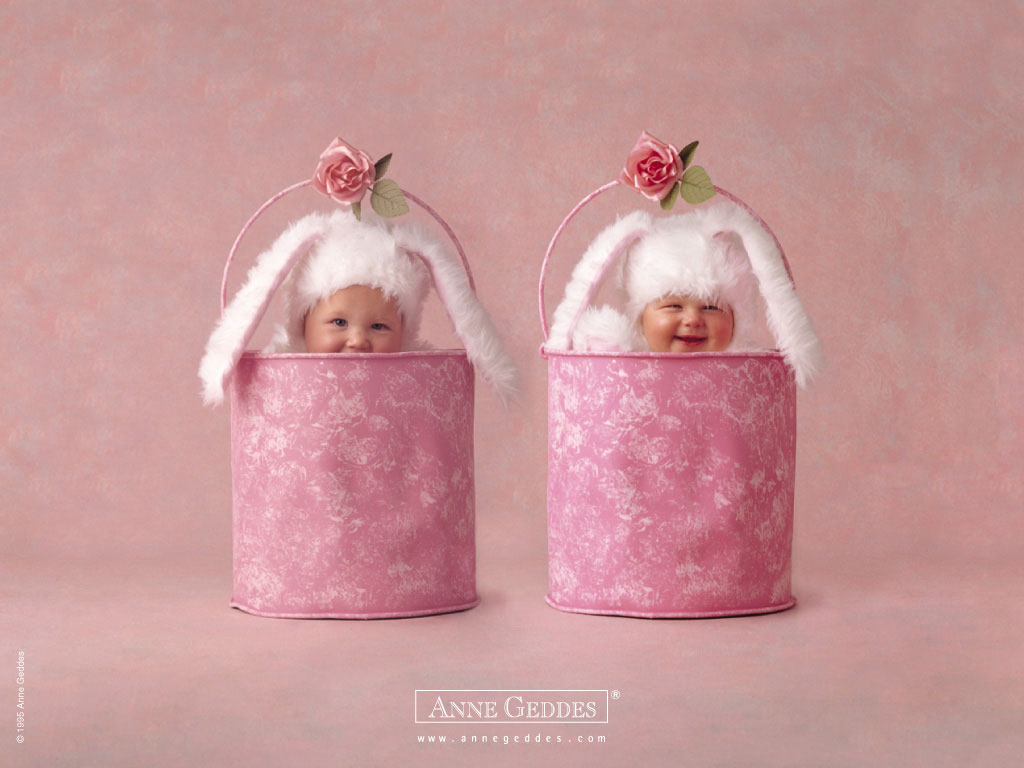 Twin Pink Bucket Babies - Twin Pink Bucket Babies