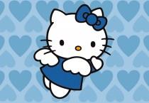 Angel Blue Hearts Hello Kitty - Angel Blue Hearts Hello Kitty