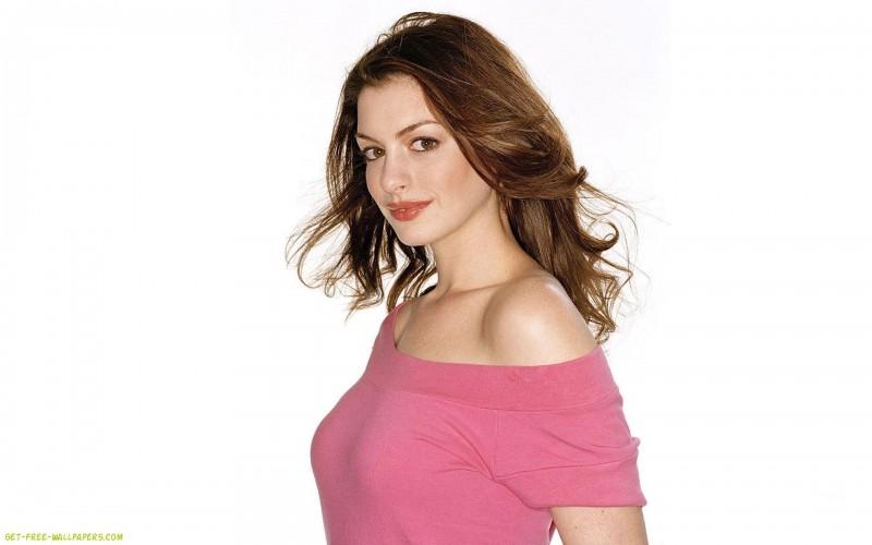 Anne Hathaway Pink Shirt - Anne Hathaway Pink Shirt