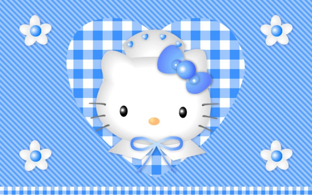 Blue Heart Hello Kitty - Blue Heart Hello Kitty