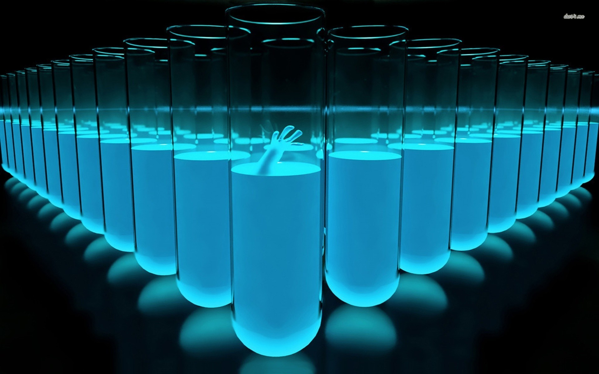Blue Liquid In Vials - Blue Liquid In Vials