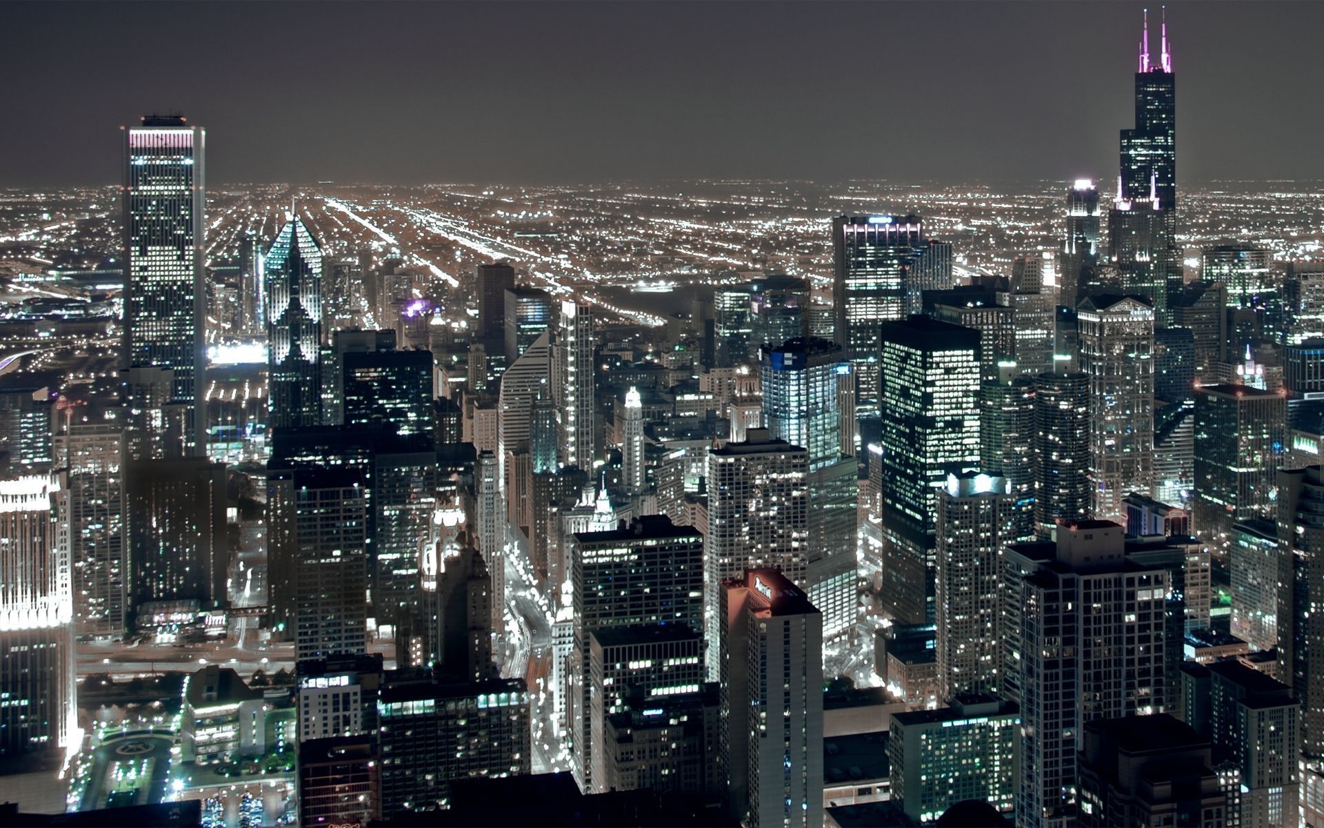Best Wallpaper Night Cities - Chicago-Night-City  Collection.jpg