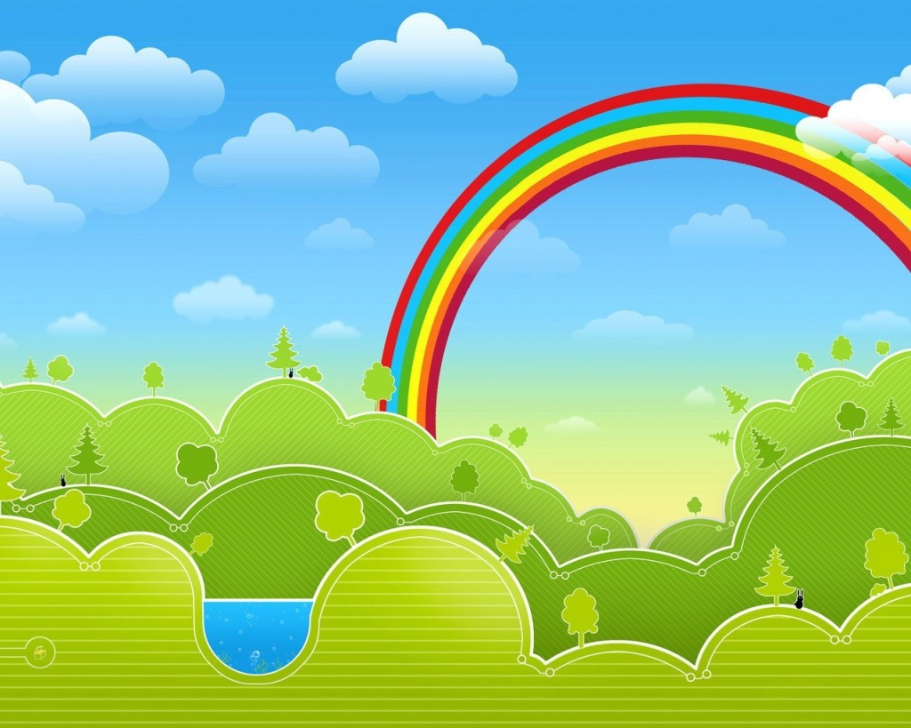 Drawn Vector Rainbow - Drawn Vector Rainbow