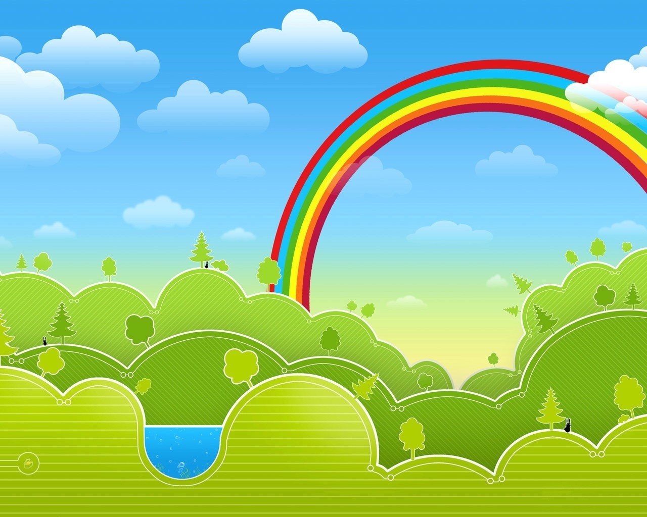 Drawn vector rainbow vector for Aprendemos jugando jardin infantil