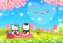 Hello Kitty On The Garden - Hello Kitty On The Garden
