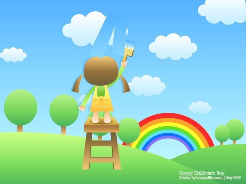 Kids Painting the Rainbow - Kids Painting the Rainbow