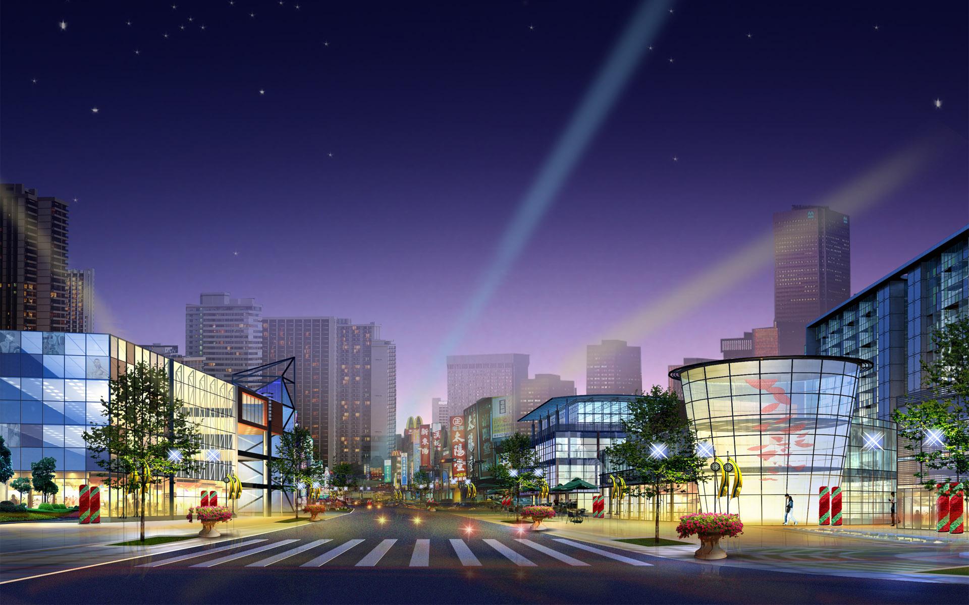 Night City Art Design Concept - Night City Art Design Concept