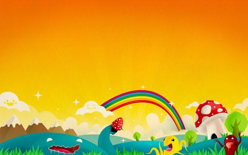 Rainbow Orange Background - Rainbow Orange Background