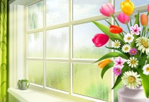 Spring Flowers In The Window - Spring Flowers In The Window