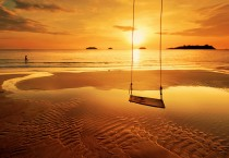 Swing On The Beach When Sunset - Swing On The Beach When Sunset