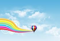 Air Balloon Rainbow Wave - Air Balloon Rainbow Wave