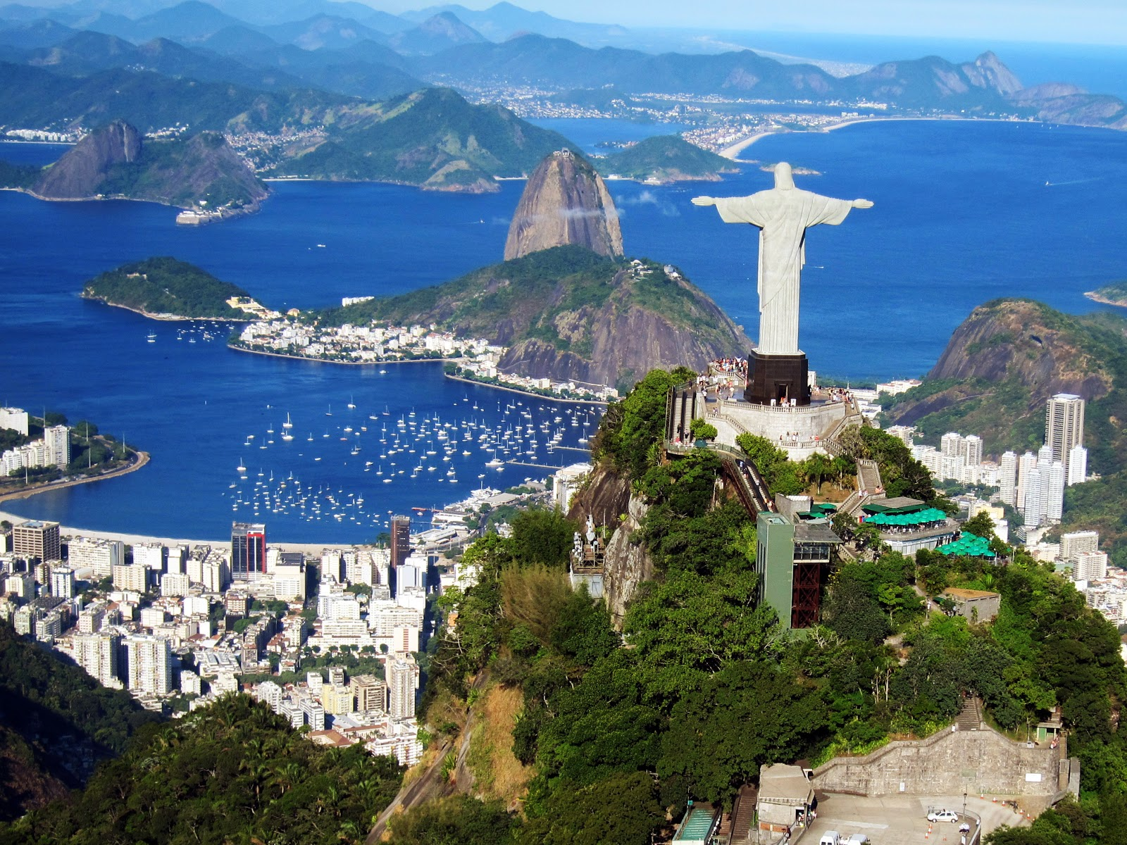 Brazil Iconic Statue On Corcovado Mountain In Rio De Janeiro - Brazil Iconic Statue On Corcovado Mountain In Rio De Janeiro