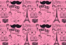Paris Pink Wallpaper - Paris Pink Wallpaper