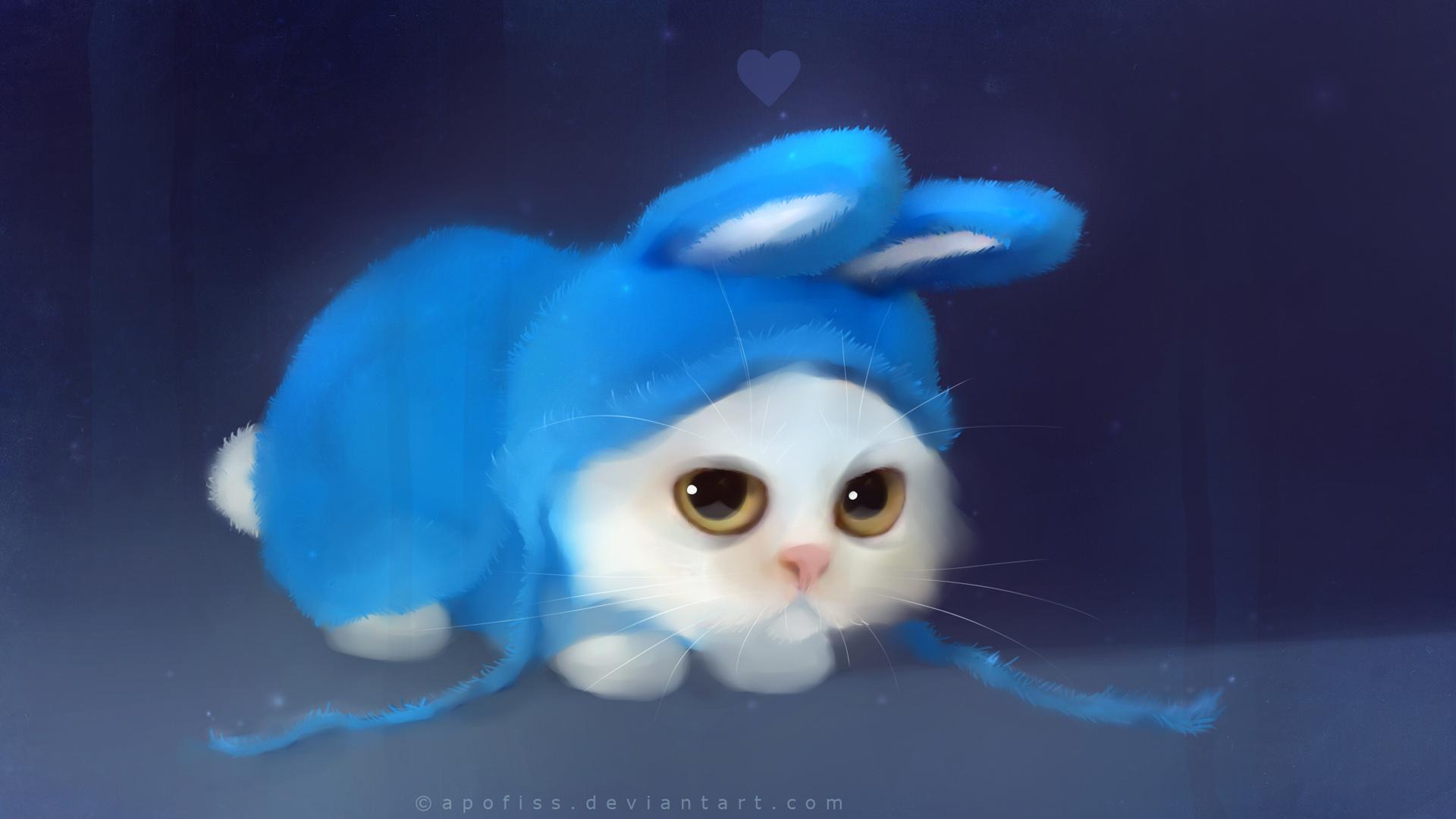 Cute Blue Bunny - Cute Blue Bunny