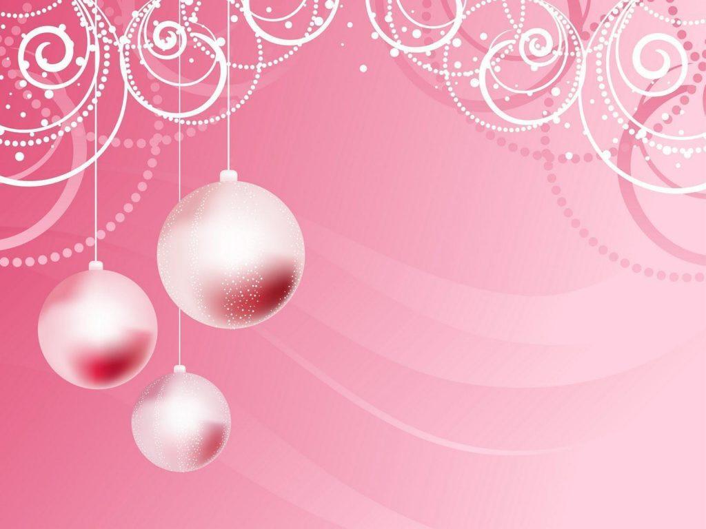 Pink-Christmas-Background HD Wallpapers