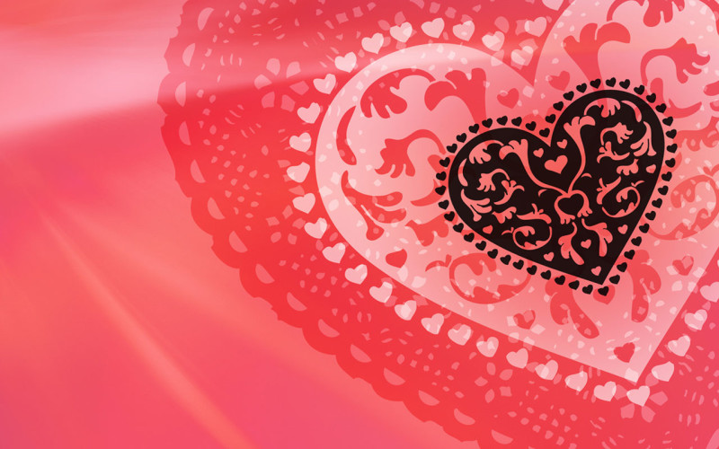 Pink Heart Shaped Wallpaper - Pink Heart Shaped Wallpaper