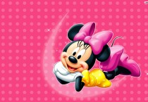 Pink Minnie Mouse Wallpapaer - Pink Minnie Mouse Wallpapaer