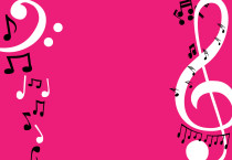 Pink Note Musics Wallpaper - Pink Note Musics Wallpaper