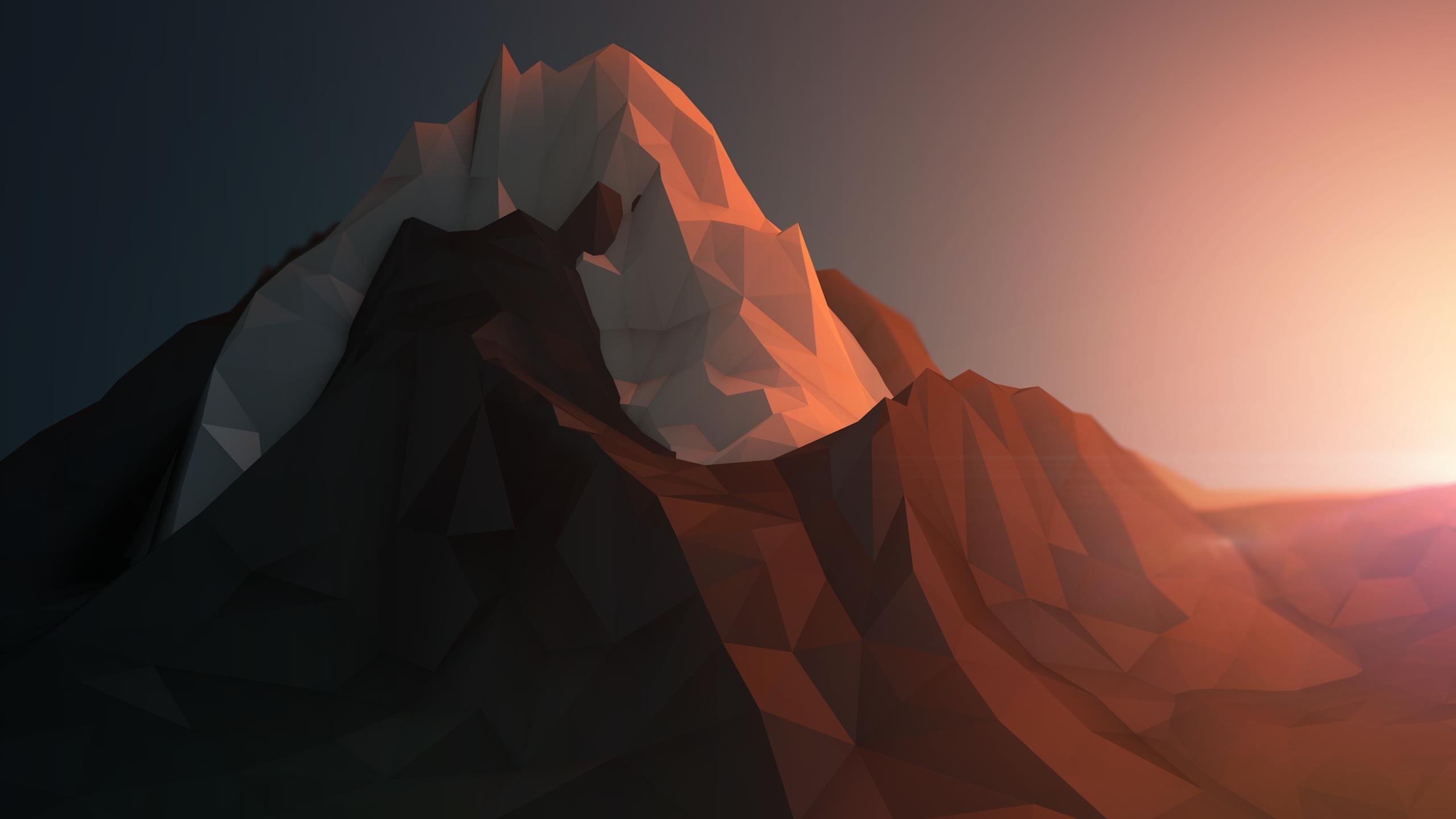 Polygon Mountain Wallpaper - Polygon Mountain Wallpaper