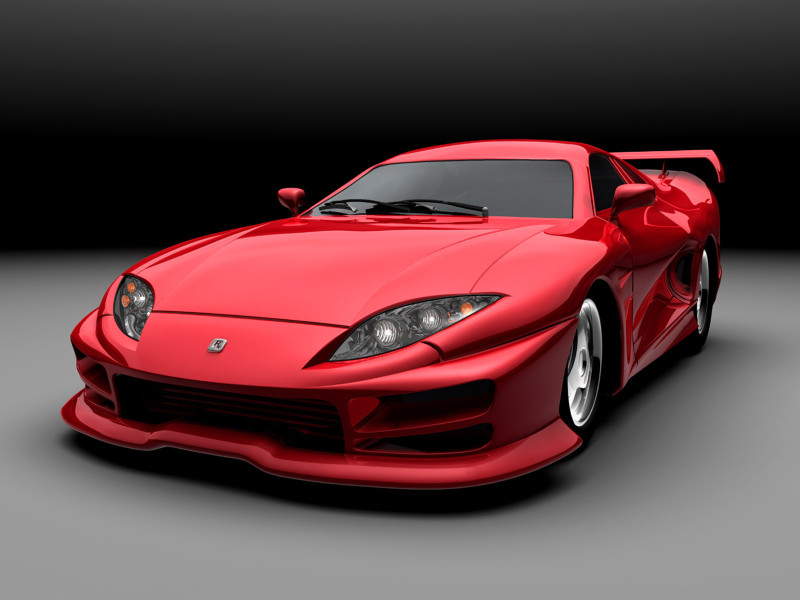 Red Sport Car Wallpaper - Red Sport Car Wallpaper