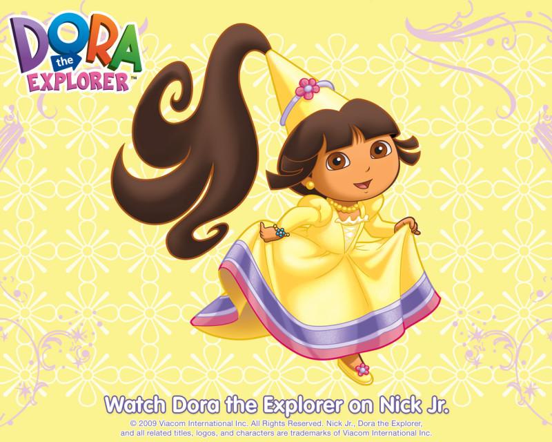 Yellow Princess Dora The Explorer - Yellow Princess Dora The Explorer
