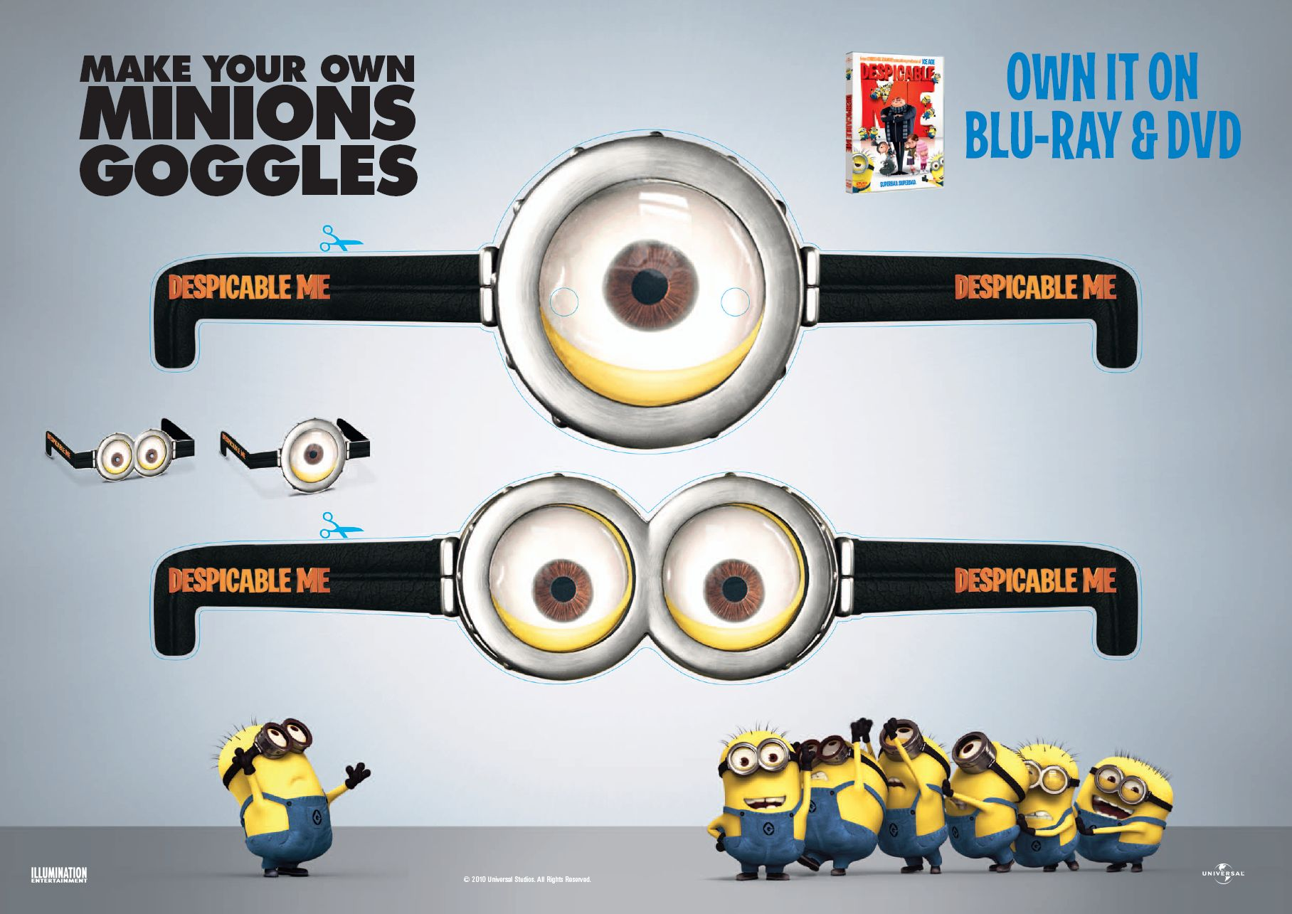 Funny Minions Goggles  Funny Minions Goggles