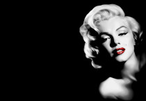 Marilyn Monroe Black Background - Marilyn Monroe Black Background