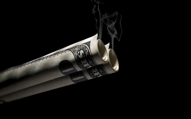 Smoking Money Wallpaper - Smoking Money Wallpaper
