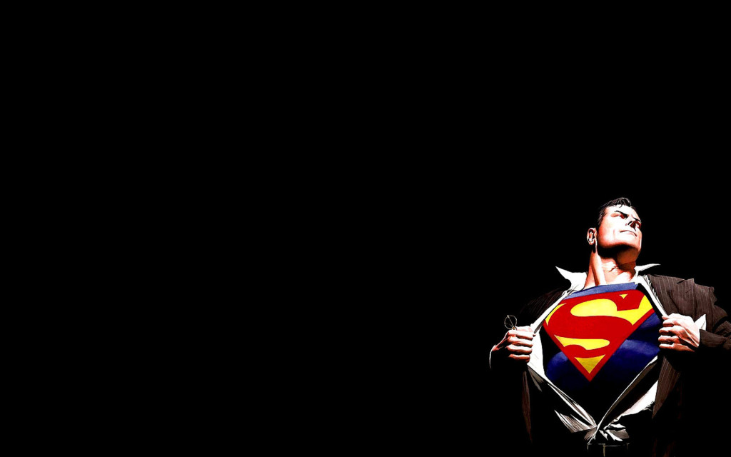 Superman Black Background - Superman Black Background