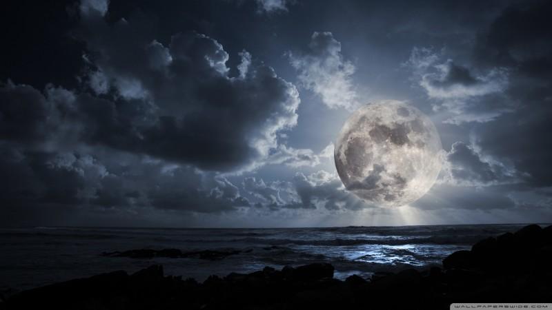 View Big Moon On The Beach - View Big Moon On The Beach