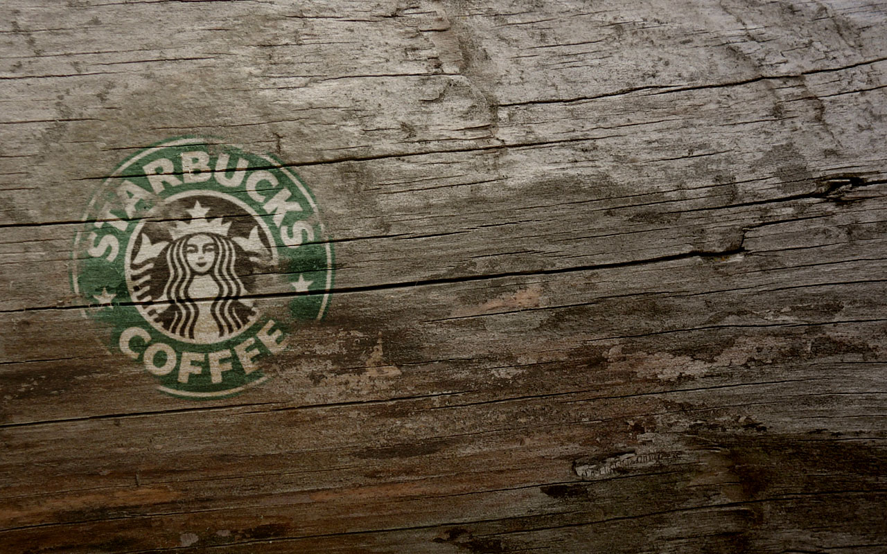 Wooden Starbucks Coffee | LOGOS & BRANDS