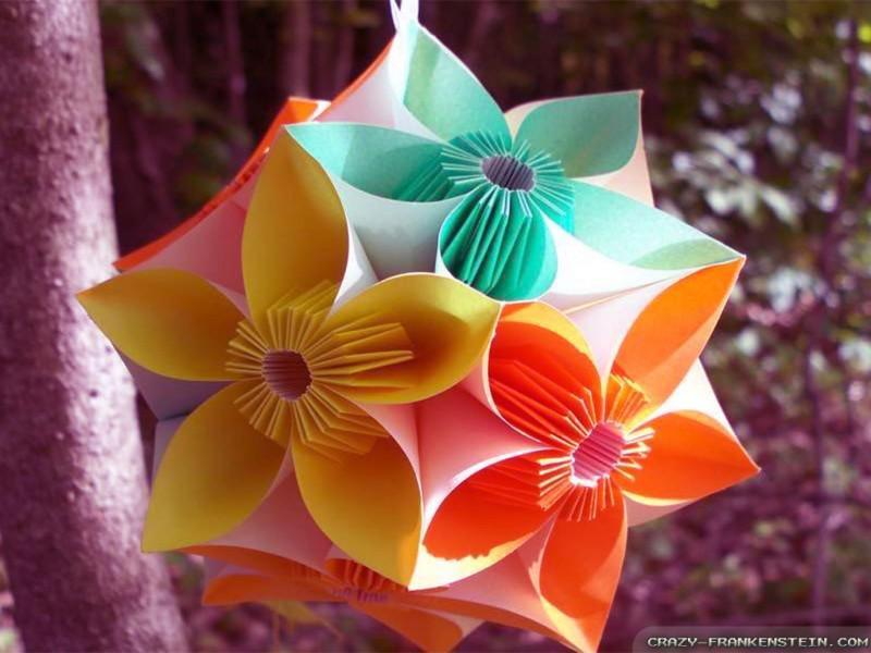 Flower Lantern Origami - Flower Lantern Origami