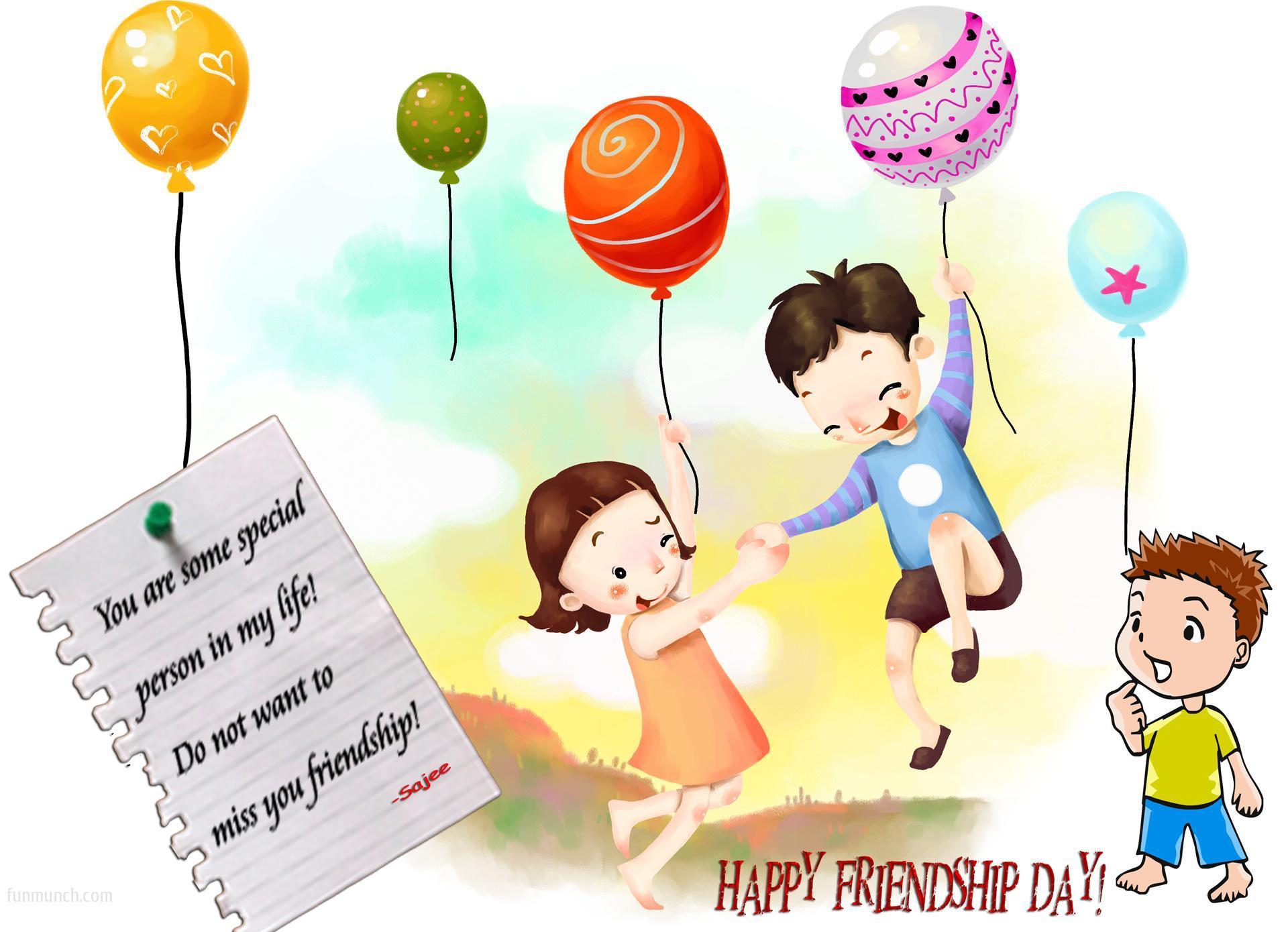 Happy Friendship Day Cartoon - Happy Friendship Day Cartoon