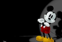 Black And White Mickey Mouse Background - Black And White Mickey Mouse Background