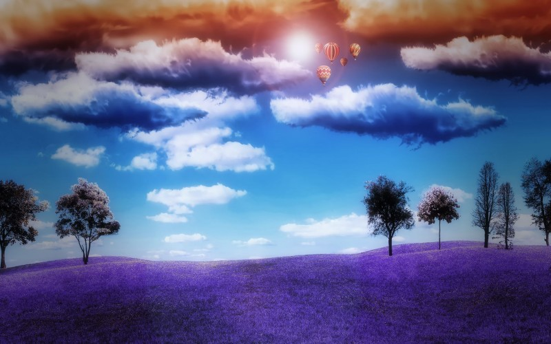 Cloudy Hot Air Balloons - Cloudy Hot Air Balloons