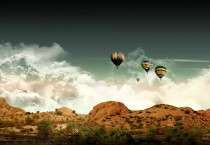 Hot Air Balloon Flying - Hot Air Balloon Flying