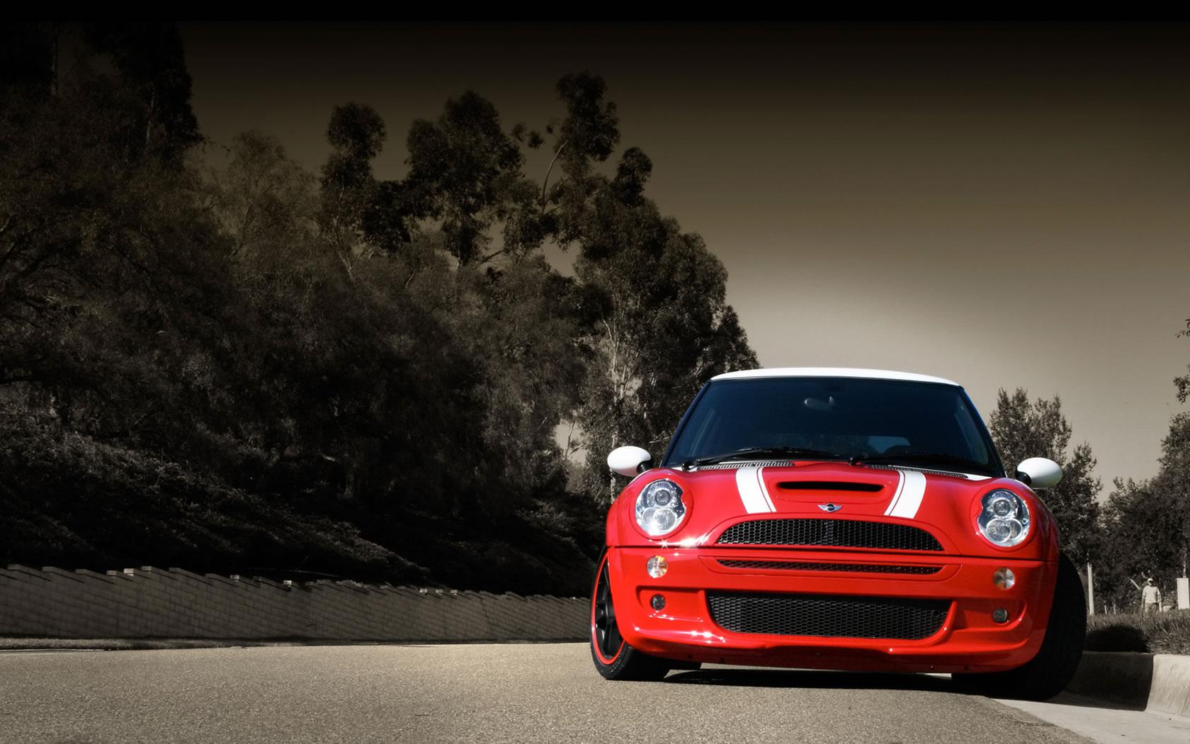 Red Mini Cooper - Red Mini Cooper