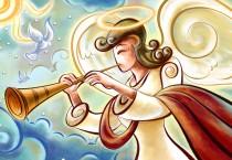 Cartoon Angel with Trumpet