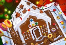 Cartoon Gingerbread House