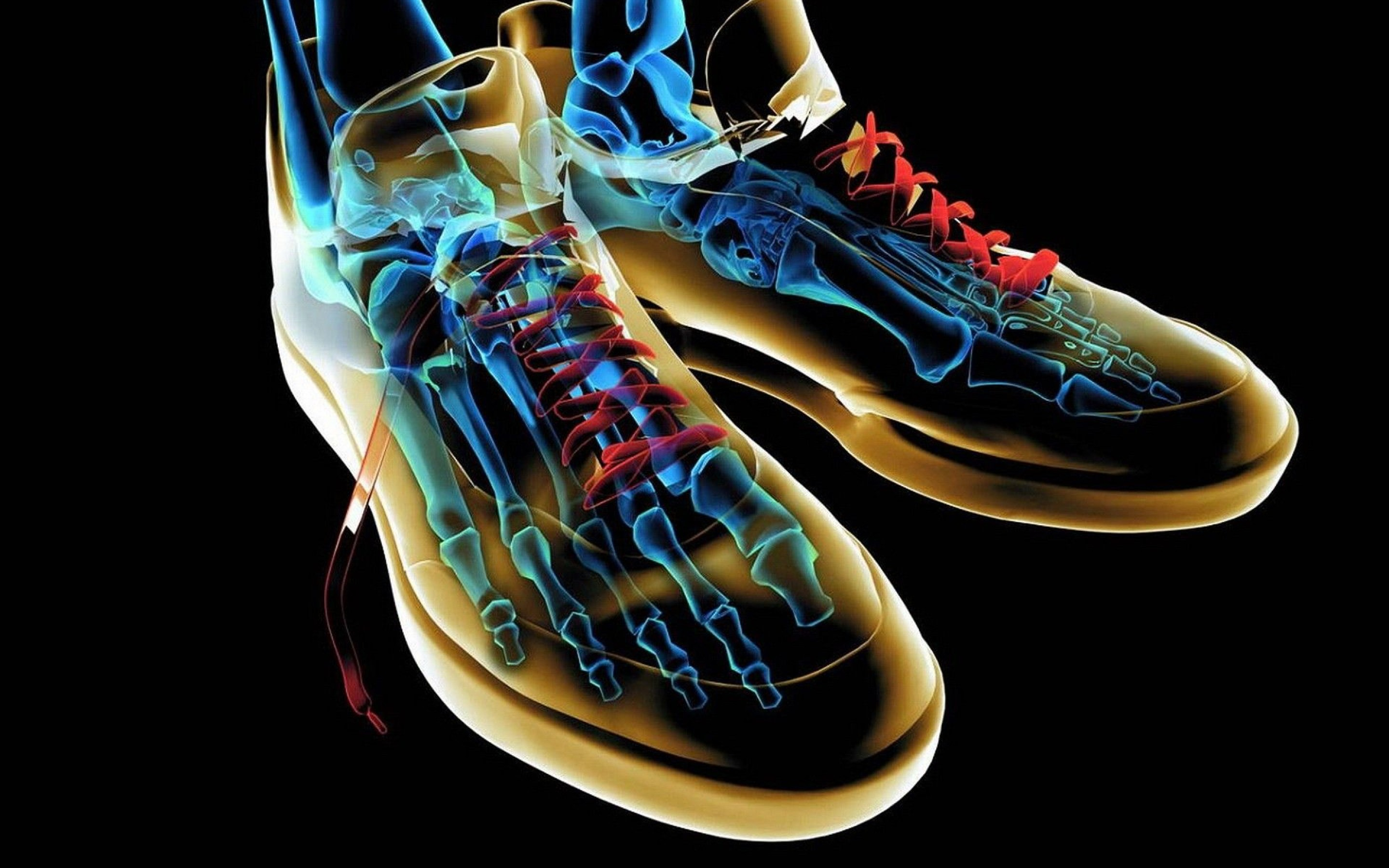 shoes xray abstract