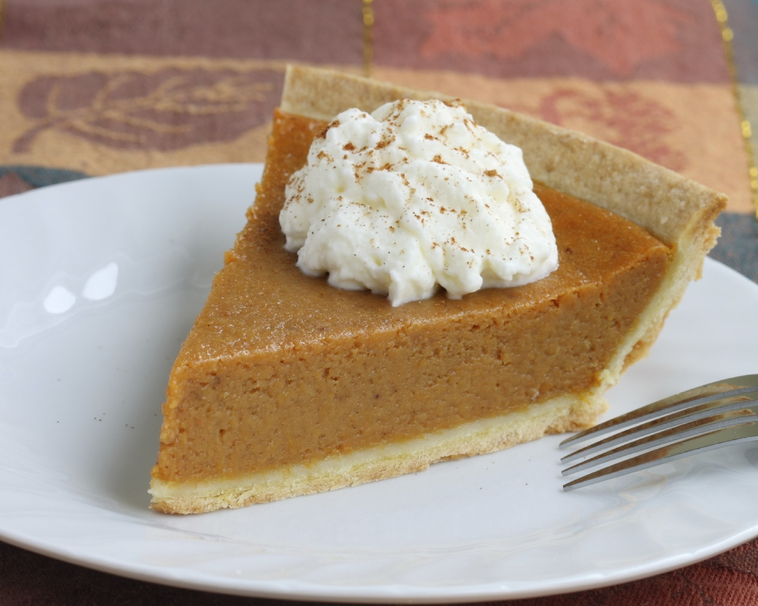 Pumpkin Pie With Whipped Cream | FOODS