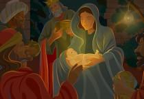 Cartoon Baby Jesus