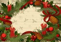 Cartoon Christmas Wreath