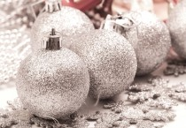 Frosted Silver Ornaments