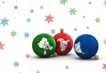 Green, Red, and Blue Ornaments