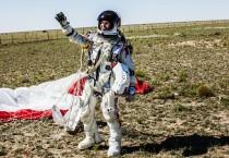 Felix Baumgartner's Space Freefall Landing