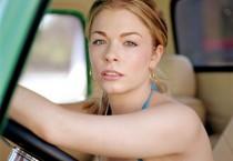 Leeane Rimes Leaning on Steering Wheel