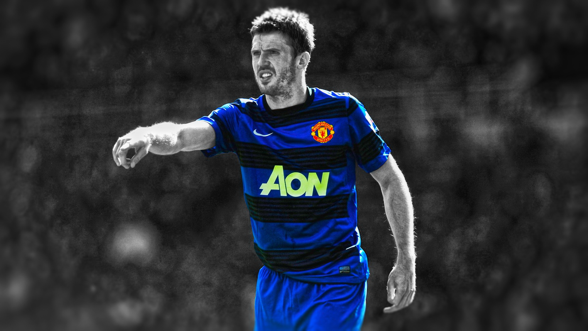 Michael Carrick In Manchester United Away Jersey